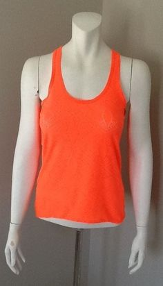 NEON ORANGE RACER BACK WORKOUT TANK TOP SIZE X SMALL #Unbranded #ShirtsTops