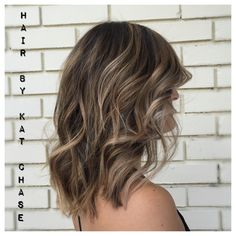 Ash blonde balayage highlights on medium hair