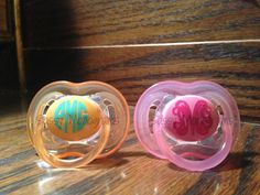 Two Monogrammed Personalized Baby Toddler by SassyMonogramAndMore, $12.00