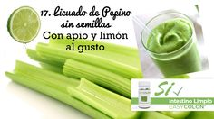22 Snacks Saludables, Licuado de Pepino sin semillas, con apio y limón al gusto