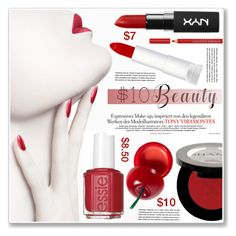 """under $10 beauty"" by nanawidia ❤ liked on Polyvore featuring beauty, Maybelline, Shany, Essie, TONYMOLY, Bourjois, contestentry, polyvoreeditorial, polyvorecontest and 10dollarbeauty"