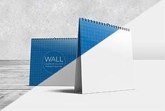 Free Download Wall Calendar Square Mock-Ups #free #download #mokups #psd