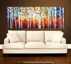 Malerei, abstrakte Malerei. Landschaftsmalerei, Acrylgemälde Wandkunst von Jolina Anthony