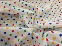 Multi colour SPOTS Children in Need Polycotton by TheFabricShopUK, £3.99