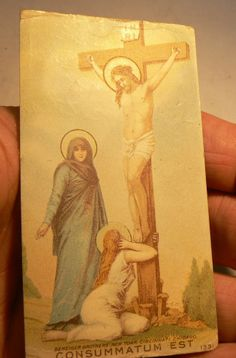 "VINTAGE "" THE CRUCIFIXION""  W/OUR BLESSED MOTHER AND MARY MAGDELAN"""
