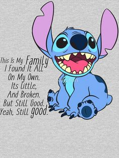 lilo and stitch Pullover Hoodie by Lilo And Stitch Memes, Lilo And Stitch Drawings, Stitch Cartoon, Funny Phone Wallpaper, Disney Wallpaper, Funny True Quotes, Cute Quotes, Stich Quotes, Toothless And Stitch