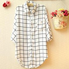 Buy 'Munai – Long-Sleeve Check Chiffon Shirt' with Free International Shipping at YesStyle.com. Browse and shop for thousands of Asian fashion items from China and more!