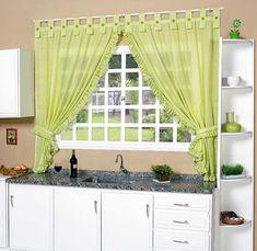 Segue alguns modelos de cortinas para cozinha/copa.