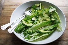 Romaine and Avocado Salad with Anchovy Garlic Vinaigrette  Recipe on Food52