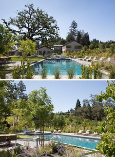 Large Backyard Landscaping, Backyard Layout, Landscaping Ideas, Backyard Patio, California Backyard, California Homes, Pool Remodel, Outdoor Living Rooms, Outdoor Areas