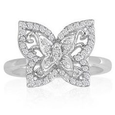 Just Like Blake Lively's Diamond Butterfly Ring in 10K White Gold (1/4ct tw.)
