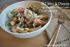 BLT mac and cheese recipe, vegan style