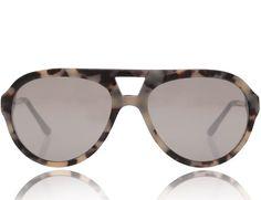 Pin for Later: Touvez la paire de lunettes qui va avec la forme de votre visage ! Aviator Stella McCartney Lunettes de soleil style aviateur en acétate effet miroir (190 €)