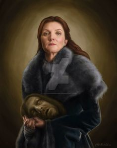 Catelyn Stark of Game of Thrones .And Ned! Photoshoooooop Stark Head of House Game Of Thrones Pictures, Game Of Thrones Fans, Catlyn Stark, Game Of Death, The North Remembers, House Stark, Winter Is Coming, Jon Snow, Fan Art