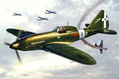 Reggiane Re 2005 Sagittario by Michal Reinis Ww2 Aircraft, Military Aircraft, Italian Air Force, Airplane Art, Ww2 Planes, Aircraft Pictures, Aviation Art, Luftwaffe, Military Art