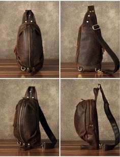 Leather Chest Bag, Handmade Bag, Men's Chest Bag, Bag and Purse, Vintage Travel Bag Features: Design: Genuine Leather Chest Bag In Stock: days For Mak