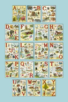 The Smart Baby's Alphabet Poster Vintage by DelightfulTrifles