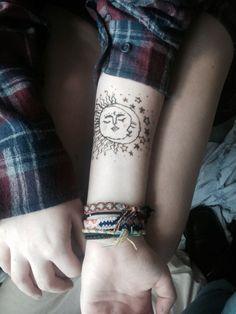 tatto sun.