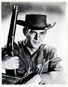 steve mcqueen Branded tv show   1960 Steve McQueen ' Wanted Dead or Alive' TV Series Publicity Photo ...