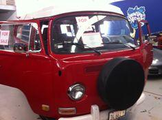 '72 VW Camping Bus w Plaid Seats Vw Camping, Road Trips, Vintage Furniture, Plaid, Travel, Gingham, Viajes, Destinations, Traveling