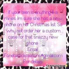 Get your orders in early fonetastickreations@gmail.com