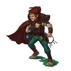 Male Halfling Rogue - Pathfinder PFRPG DND D&D 3.5 5th ed d20 fantasy