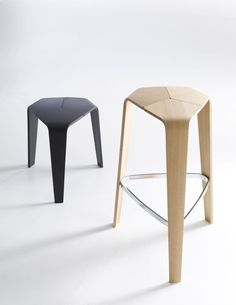 Bar stool / contemporary / plywood / commercial - TRE by Jehs+Laub - DAVIS - Videos