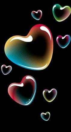 By Artist Unknown. - Wallpaper World Wallpaper World, Heart Wallpaper, Trendy Wallpaper, Love Wallpaper, Colorful Wallpaper, Screen Wallpaper, Cute Wallpapers, Wallpaper Backgrounds, Wallpaper Ideas