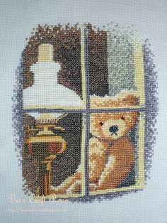 William in The Window from the John Clayton Thread Bears Collection Counted Cross Stitch from Heritage Crafts John Clayton, Heritage Crafts, Cross Stitch Letters, Santa Sleigh, Welcome Home, Circle Design, Christmas Cross, Cross Stitch Designs, Kids Rugs