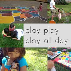 awesome list of ways to play...from scavenger hunts to creative educational ideas