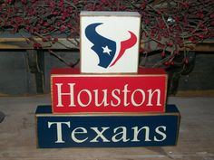 Houston Texans, R U Ready for some Football.. New Primitive Wood by BusyMamasPlace