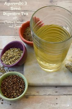 This Ayurvedic 3 seed digestive tea made with cumin, coriander and fennel is also known as Prime Tea, outlined in The Prime by Dr. Herbal Remedies, Natural Remedies, Health Remedies, Tea Recipes, Real Food Recipes, Cilantro Plant, Tea For Digestion, Fennel Tea, Warm Food