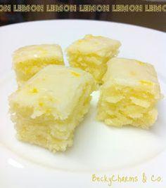 lemon brownies, lemon, recipes, baking, BeckyCharms, becky charms, san diego, sweets, treats, dessert