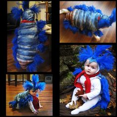 AWESOME! baby dressed as the worm from the labyrinth, best costume ever!