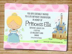 Printable Cinderella Birthday Invitation Cinderella Birthday Invite Cinderella Party Invitation on Etsy, $11.00