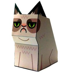 Hey! its papercraft happy fun time again, presenting a tubbypaws happy papercraft tribute to grumpy cat the grumpy cat, the cat with a grumpy face.