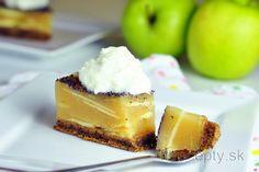 Fit tvarohový krém s kiwi a makom Healthy Sweets, Sweet Recipes, Stevia, Cake Pops, Cheesecake, Deserts, Good Food, Vegan, Cookies