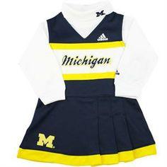 Michigan Infant Cheerleader Outfit. Cheerleader CostumeCheerleading  OutfitsBaby   Toddler ClothingToddler GirlGo BlueUniversity Of ... 87951d1db
