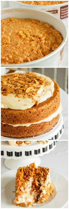 Super moist carrot cake with an awesome brown butter and brown sugar buttercream!