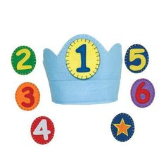 Crown with velcro closure for adjustable fit. The numbers attach with velcro. Plus a star for anyday play and after 6 years old. Wearing this crown each year will surely be an annual tradition poly felt, made in China Birthday Book, Blue Birthday, Birthday Photos, Happy Birthday, Felt Crown, Birthday Party Centerpieces, Waldorf Toys, Personalized Birthday Gifts, Star Decorations