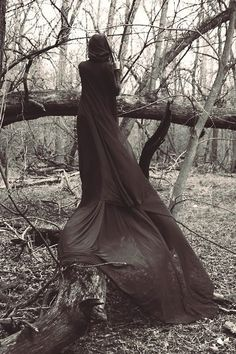 Caped, In the woods