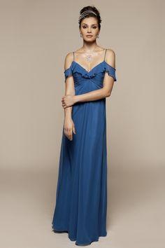 Elegant sleeveless with natural waist dress for bridesmaid