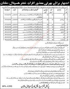 Nishtar Hospital Multan Jobs 2016 - Jobs in Pakistan, Karachi, Lahore, Rawalpindi, Islamabad, Peshawar; published in Jang, Express