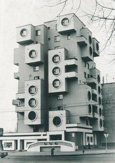 Residential building on Minskaya Street, 1980s, Bobruisk, Belarus © Belorussian State Archive of  Scientific-Technical Documentation