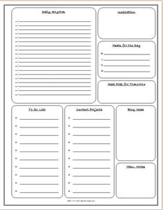 Learn how to get organized & free printable from Townsend House: Home Binders