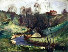 Edvard Munch - Stream in spring (1882)