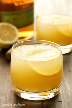 Refreshing 3 ingredient pineapple whiskey sour recipe from @bakedbyrachel