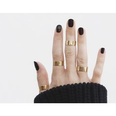 Thick Stacking Ring ($175) ❤ liked on Polyvore featuring jewelry, rings, stackable rings, gold rings, stackers jewelry, gold above knuckle ring e stacking rings jewelry