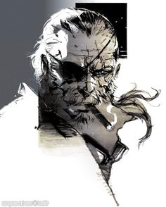 Artworks de Yoji Shinkawa para el juego. - Metal Gear Solid V: The Phantom Pain