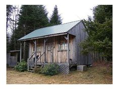 Homestead Shelter: 240 sq ft cabin on 46 acres in ME